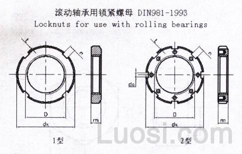 DIN  981-1993 圆螺母