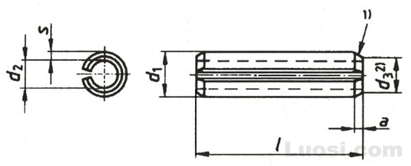 DIN EN ISO 8752 弹性圆柱销—开槽—重型