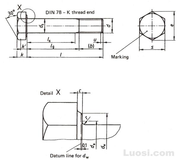 DIN 6914 钢结构用—大六角头高强度螺栓
