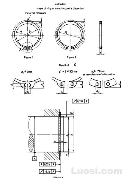 DIN 471 轴用挡圈—标准型和重型