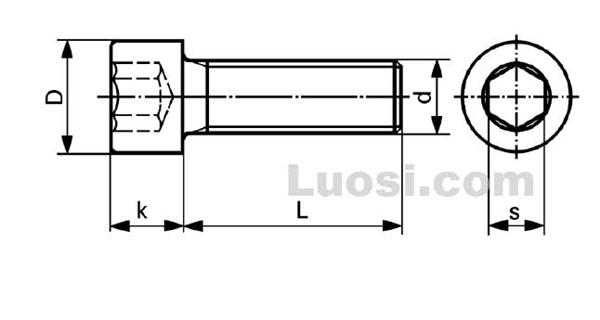DIN  912 内六角圆柱头螺钉