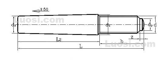 258-1977 DIN258-1977-带螺纹圆锥销
