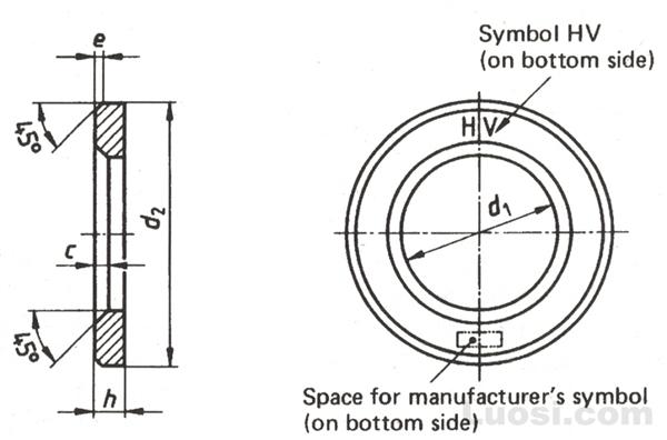 DIN 6916 钢结构高强度螺栓连接—圆垫圈
