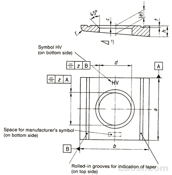 钢结构高强度螺栓连接—槽钢用方斜垫圈