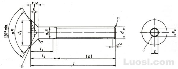 DIN EN ISO 10642 【DIN 7991】内六角沉头螺钉