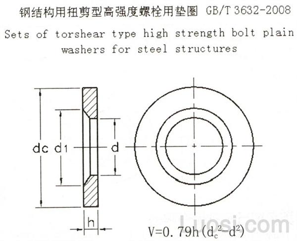 GB /T 3632-2008 钢结构用扭剪型高强度螺栓用垫圈