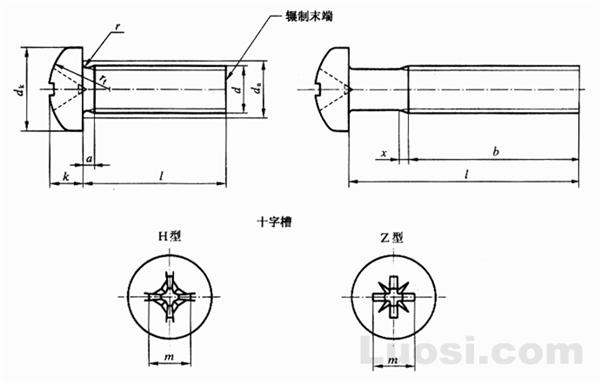 GB/T 818-2000 十字槽盘头螺钉 818-85