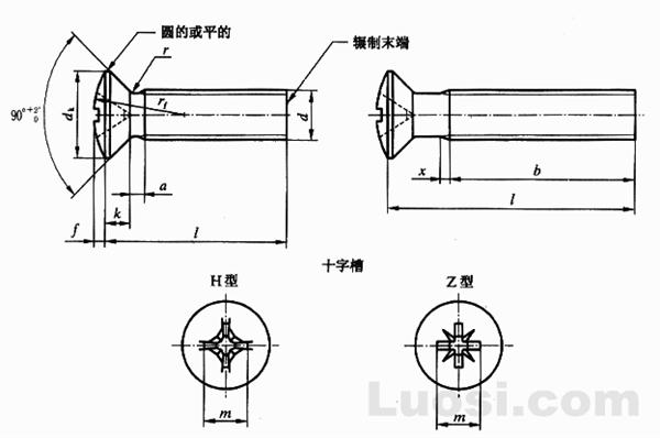 GB/T 820-2000 十字槽半沉头螺钉