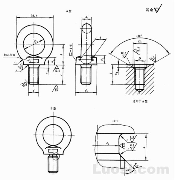 GB/T 825-88 吊环螺钉