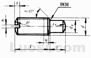 GB/T 829-88 开槽圆柱端定位螺钉