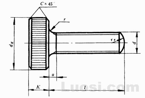 GB/T 835-88 滚花平头螺钉