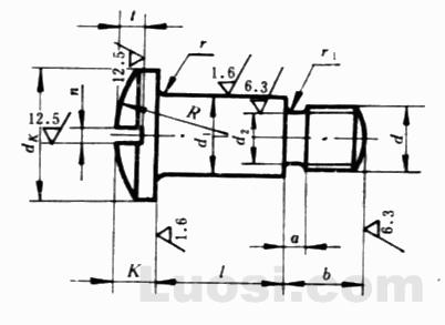 GB/T 946-88 开槽球面圆柱头轴位螺钉