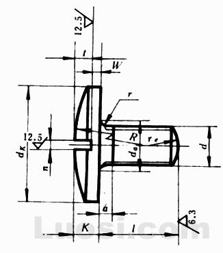 GB/T 947-88 开槽球面大圆柱头螺钉