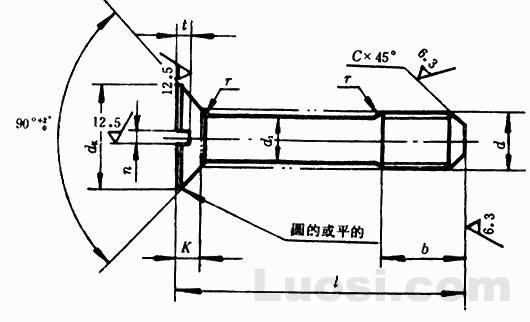 GB/T 948-88 开槽沉头不脱出螺钉