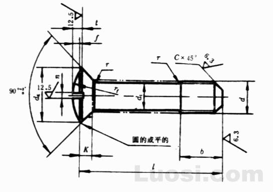 GB/T 949-88 开槽半沉头不脱出螺钉