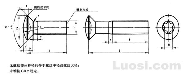GB/T 2674-86 内六角花形半沉头螺钉