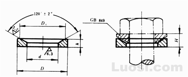 GB/T 850-88 锥面垫圈