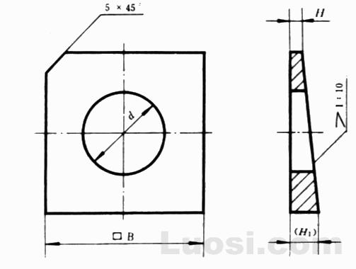 GB/T 853-88 槽钢用方斜垫圈