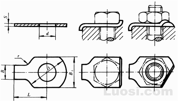 GB/T 854-88 单耳止动垫圈