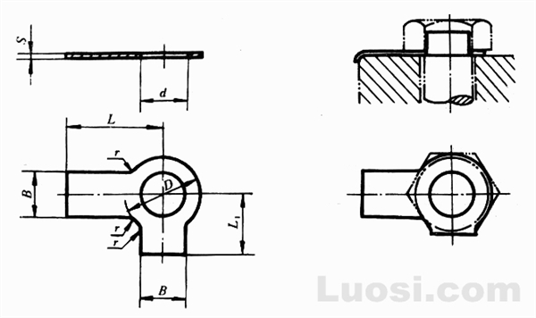 GB/T 855-88 双耳止动垫圈
