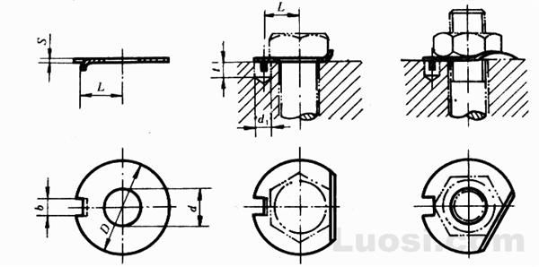 GB/T 856-88 外舌止动垫圈