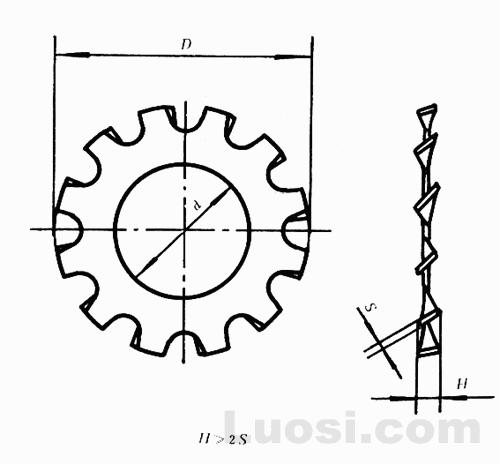 GB/T 862.1-87 外齿锁紧垫圈