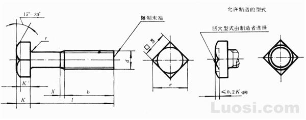 GB/T 35-88 小方头螺栓 B级