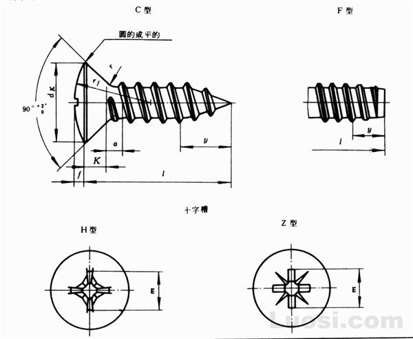 GB/T 847-85 十字槽半沉头自攻螺钉