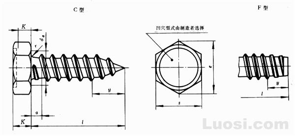 GB/T 5285-85 六角头自攻螺钉