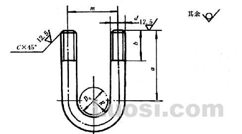 JB/ZQ 4321-97 U型螺栓