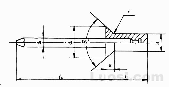 GB/T 12616-90 封闭型沉头抽芯铆钉