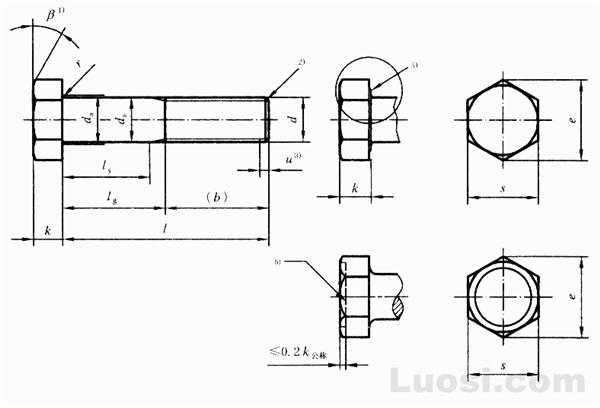 GB/T 5780-2000 六角头螺栓 C级