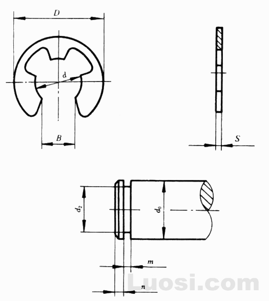 GB/T 896-86 开口挡圈