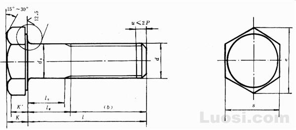 GB/T 1228-91 钢结构用高强度大六角头螺栓