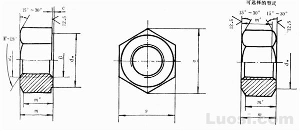GB/T 1229-91 钢结构用高强度大六角头螺母