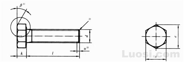 GB/T 5783-2000 六角头螺栓 全螺纹