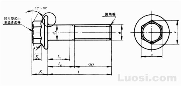 GB/T 5789-86 六角法兰面螺栓-加大系列-B级