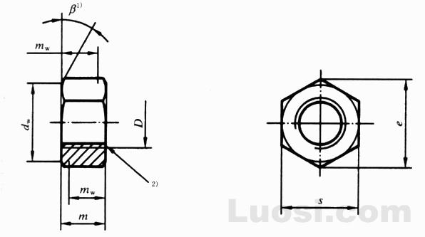 GB/T 41-2000 六角螺母 C级