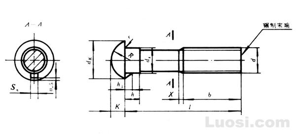GB/T 13-88 半圆头带榫螺栓
