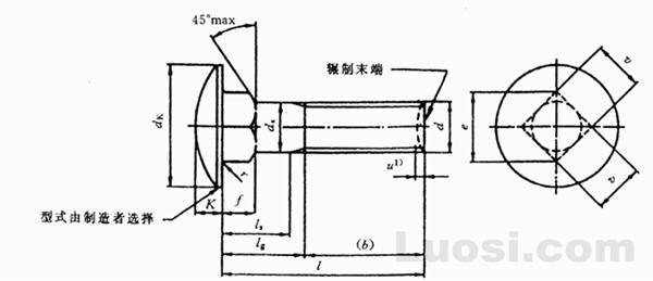 GB/T 14-1998 大半圆头方颈螺栓 C级
