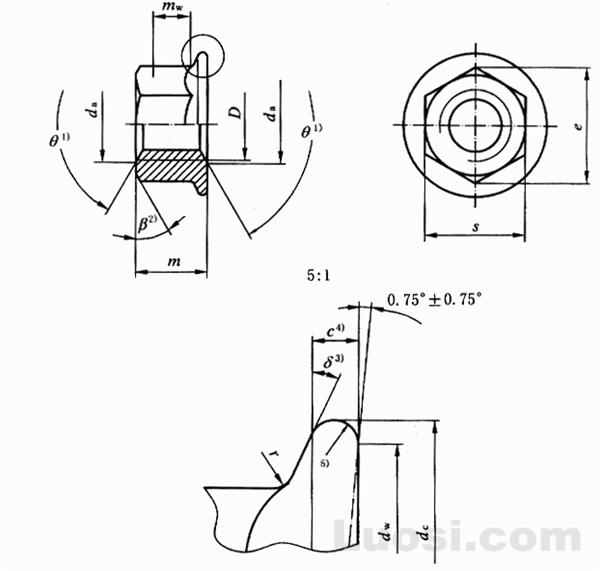 GB/T 6177.1-2000 六角法兰面螺母