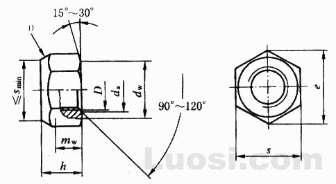GB/T 6186-2000 2型全金属六角锁紧螺母 9级