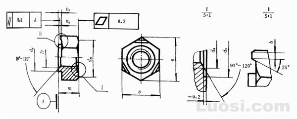 GB/T 13681-92 焊接六角螺母
