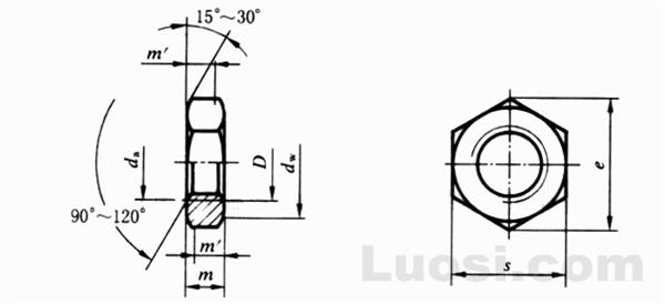 GB/T 18195-2000 精密机械用六角螺母