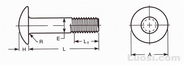 ASME B18.5 1990(R 1998) 半圆头螺栓