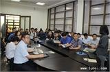 2018年4月13日华人螺丝环球考察团成员在台湾长鸿会议室交流