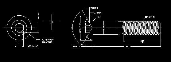 用cad画螺丝平面图难度大吗?