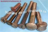 铜螺栓C65100,C65500,CuNi2Si硅青铜六角螺栓马车螺栓方头螺栓五角螺栓沉头螺栓