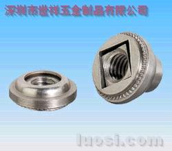 供应具有非自锁铁镀蓝锌浮动螺母AS-632-2