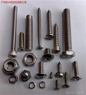 不锈钢系列美制螺丝、螺母
